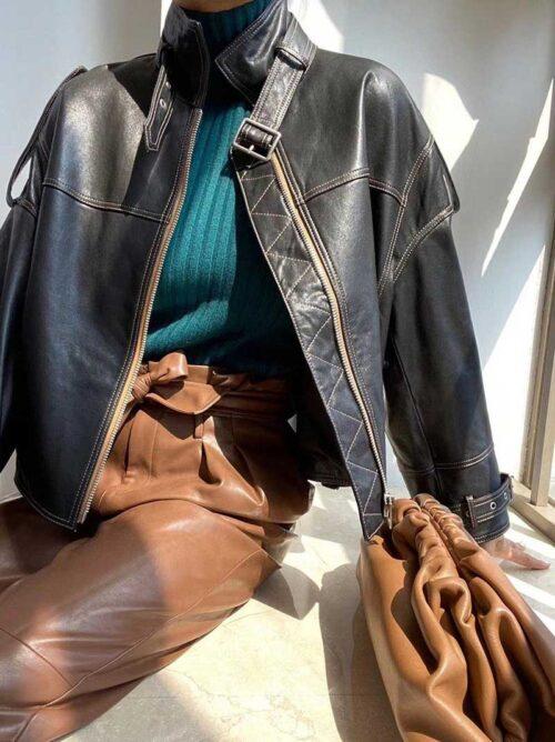 Кожаная куртка Bottega Veneta