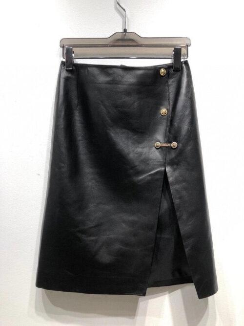 Versace юбка кожаная